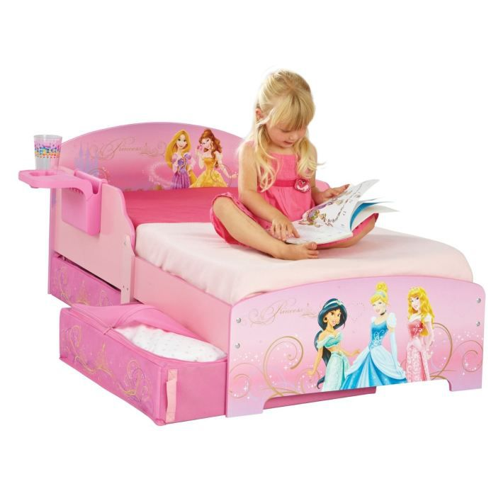 disney princesses lit enfant avec rangements 70 x 140 cm achat vente structure de lit. Black Bedroom Furniture Sets. Home Design Ideas