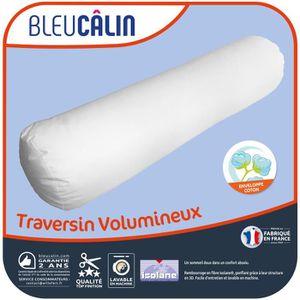 OREILLER BLEU CALIN Traversin volumineux Isolane 140 cm bla