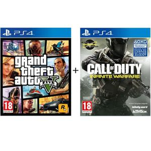 JEU PS4 Pack 2 Jeux PS4 : GTA V + Call of Duty Infinite Wa
