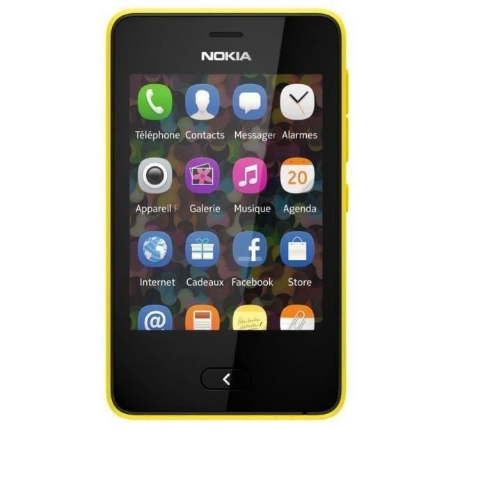 nokia asha 501 dual sim jaune achat t l phone portable. Black Bedroom Furniture Sets. Home Design Ideas