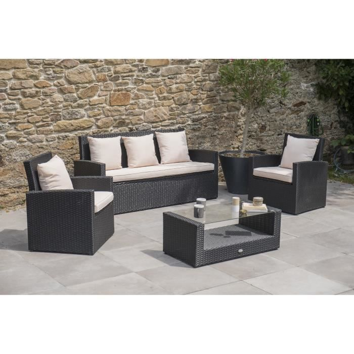 Dcb garden salon de jardin confort fidji 1 table basse 2 for Alpina garden salon de jardin