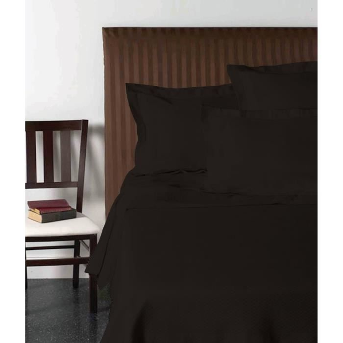 vision drap plat 270x300 cm noir achat vente drap plat cdiscount. Black Bedroom Furniture Sets. Home Design Ideas