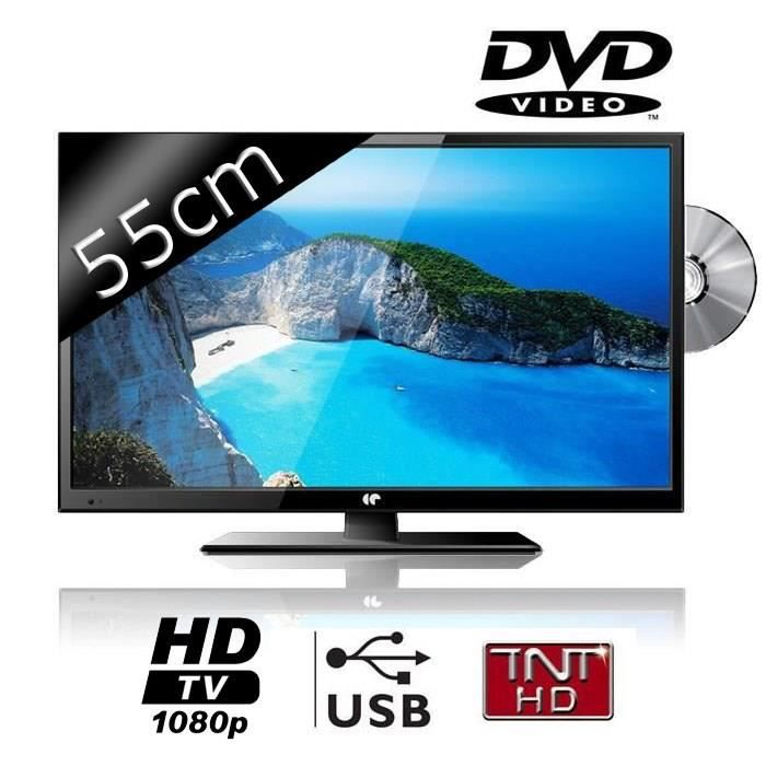 continental edison tv led full hd combo dvd 55cm 22 achat vente t l viseur led. Black Bedroom Furniture Sets. Home Design Ideas