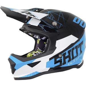 fe246a8838cf5f CASQUE MOTO SCOOTER SHOT Casque Cross Enfant Kid Furious Spectre Noir