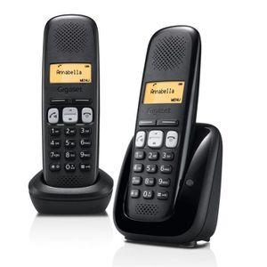 Téléphone fixe Gigaset A250 Duo Téléphone Sans Fil Sans Répondeur