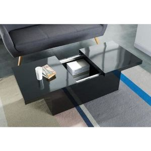 Table basse bar achat vente table basse bar pas cher cdiscount - Table basse bar noir ...