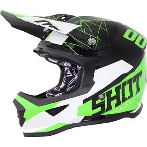 CASQUE MOTO SCOOTER SHOT Casque Cross Enfant/Kid Furious Spectre Noir