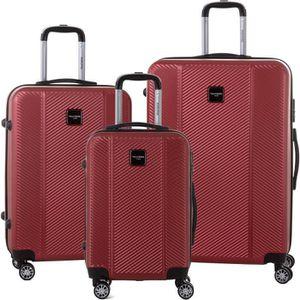 SET DE VALISES MURANO Ensemble de 3 valises 55/65/75cm avec 8 rou