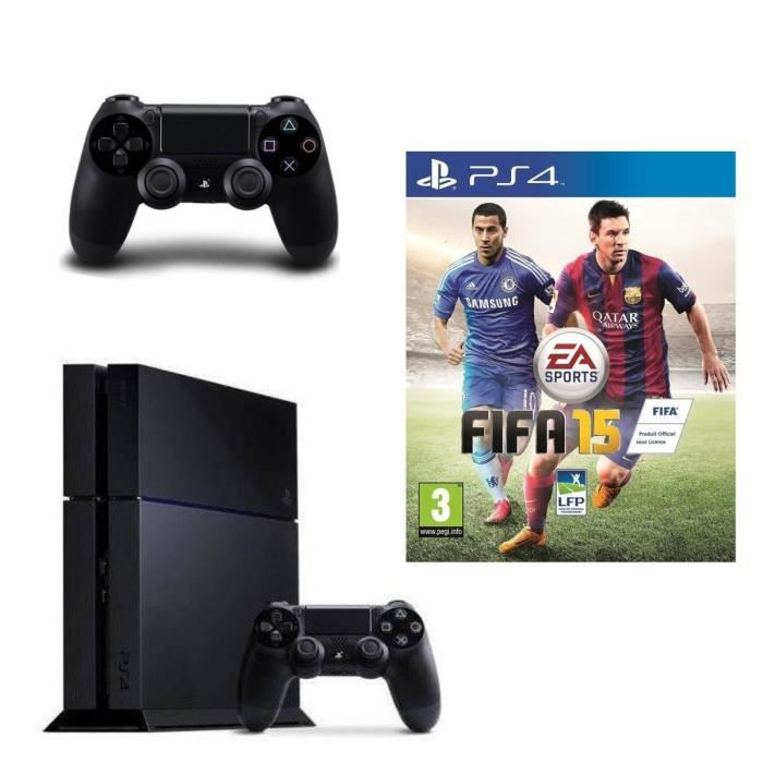 console ps4 500 go fifa 15 jeu ps4 manette achat. Black Bedroom Furniture Sets. Home Design Ideas