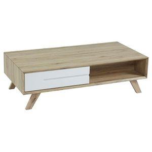 TABLE BASSE NORA Table basse scandinave décor chêne Sonoma et