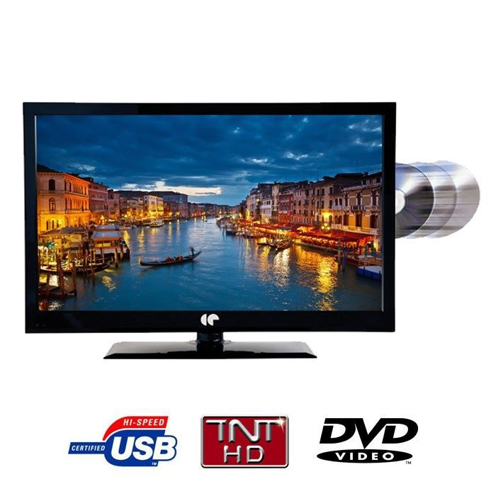 continental edison led24dvdu6 tv led combo dvd achat. Black Bedroom Furniture Sets. Home Design Ideas