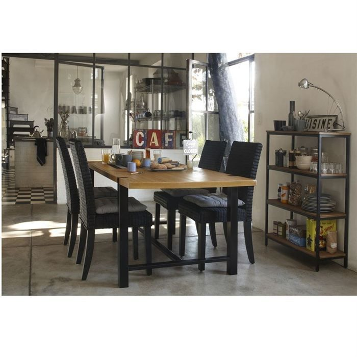 indus table de s jour ch ne achat vente table manger. Black Bedroom Furniture Sets. Home Design Ideas
