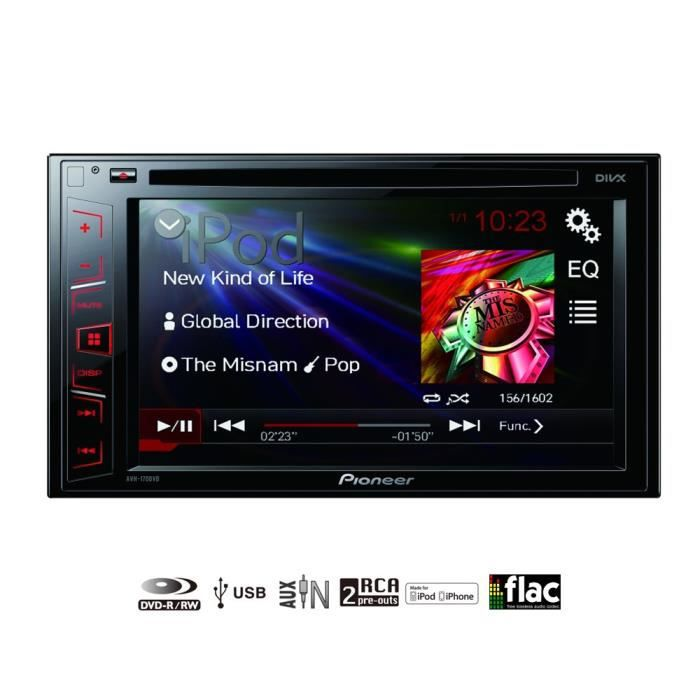 pioneer avh 170dvd autoradio vid o 6 2 achat vente autoradio pioneer avh 170dvd cdiscount. Black Bedroom Furniture Sets. Home Design Ideas