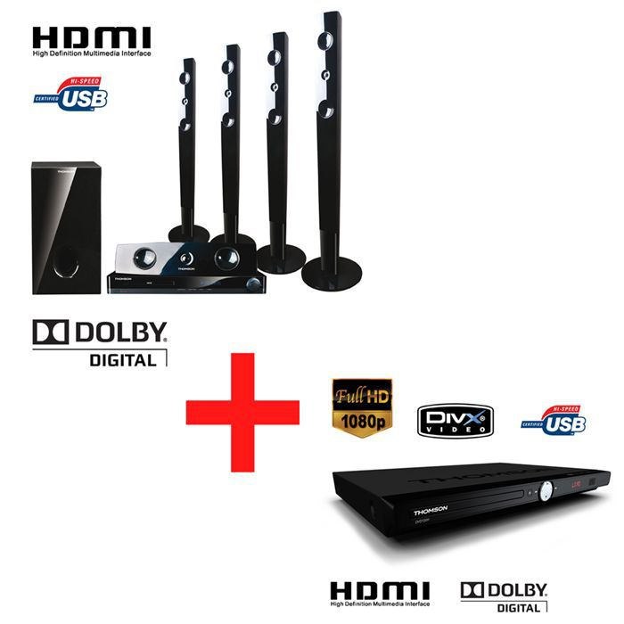 thomson ht400 tb lecteur dvd ensemble home cin ma. Black Bedroom Furniture Sets. Home Design Ideas