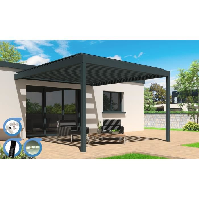 pergola motoris e bioclimatique cocoon led smart aluminium. Black Bedroom Furniture Sets. Home Design Ideas