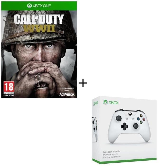 JEU XBOX ONE Pack Xbox One : Call of Duty World War II + Manett