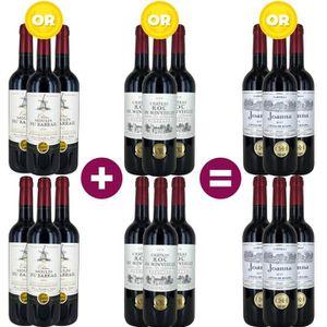 VIN ROUGE 12 = 18 Pack Bordeaux Médaillé d'Or - Vin rouge de