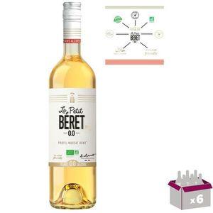 Apéritif à base de vin LE PETIT BERET Blanc Doux Boisson sans Alcool à ba