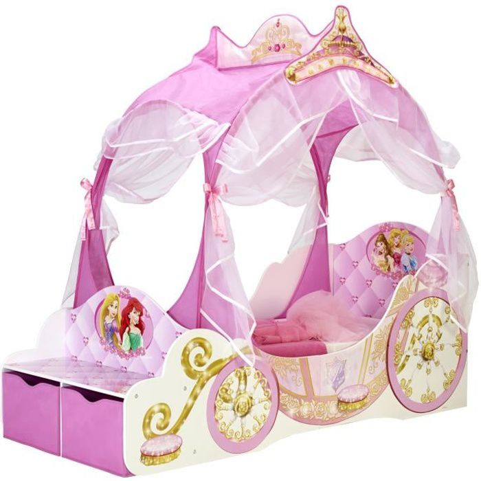 structure de lit worlds apart disney princesses lit enfant fille - Lit Enfant Fille