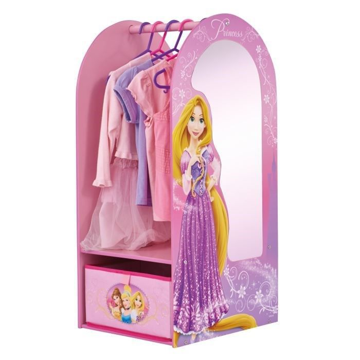 disney princesses armoire et miroir d 39 habillage achat. Black Bedroom Furniture Sets. Home Design Ideas