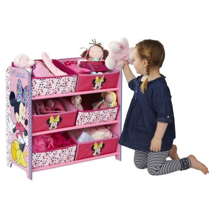 minnie house meuble de rangement enfant fille 6 bacs rose worlds appart achat vente. Black Bedroom Furniture Sets. Home Design Ideas