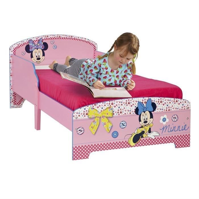 lit enfant mdf minnie mouse 70 x 140 cm achat vente structure de lit cdiscount. Black Bedroom Furniture Sets. Home Design Ideas