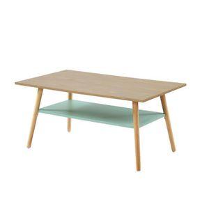 TABLE BASSE ELISE Table basse avec une étagère - Style vintage