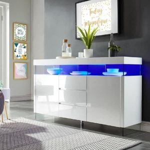 BUFFET - BAHUT  SEZANNE Buffet avec éclairage LED contemporain laq
