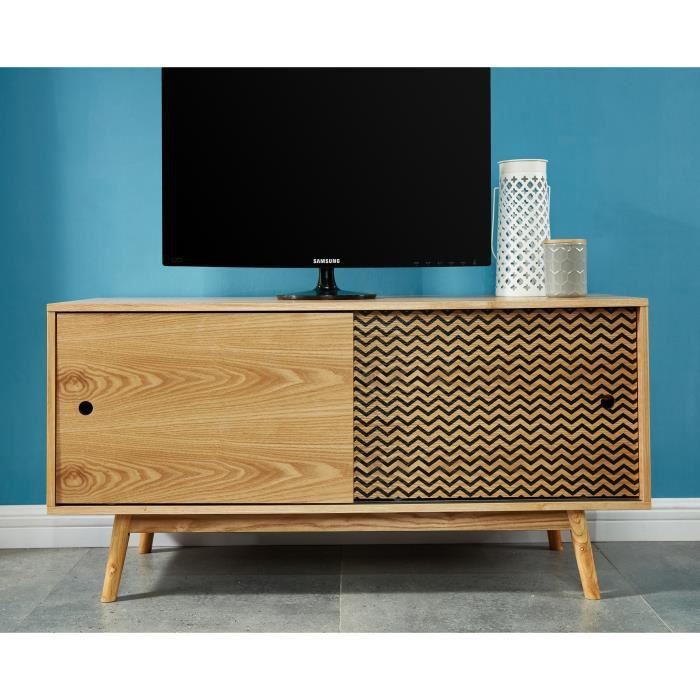 Meuble tv scandinave achat vente meuble tv scandinave for Mini meuble tv