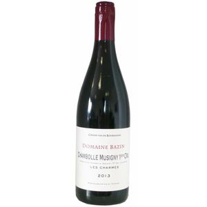 VIN ROUGE Domaine Bazin 2013 Chambolle Musigny 1er cru - Vin