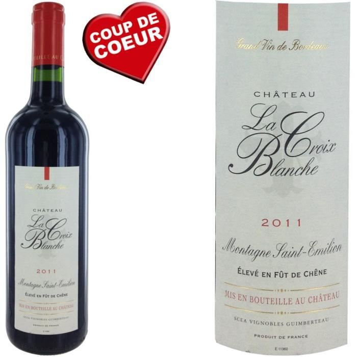 ch teau la croix blanche 2011 montagne st emilion achat vente vin rouge ch la croix blanche. Black Bedroom Furniture Sets. Home Design Ideas