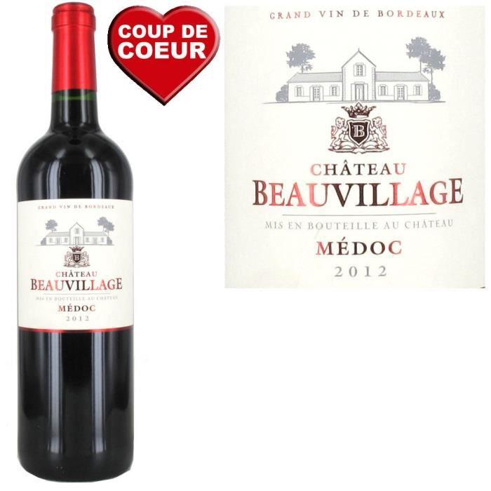 VIN ROUGE Château Beauvillage 2012 Médoc - Vin rouge de Bord