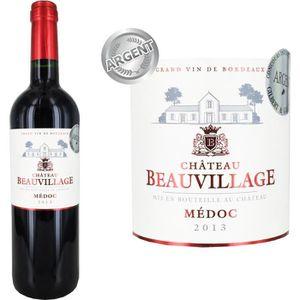 VIN ROUGE Château Beauvillage 2013 Médoc - Vin rouge de Bord