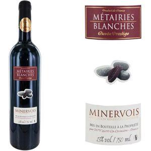 VIN ROUGE Métairies  Blanches 2013 Minervois - Vin rouge du