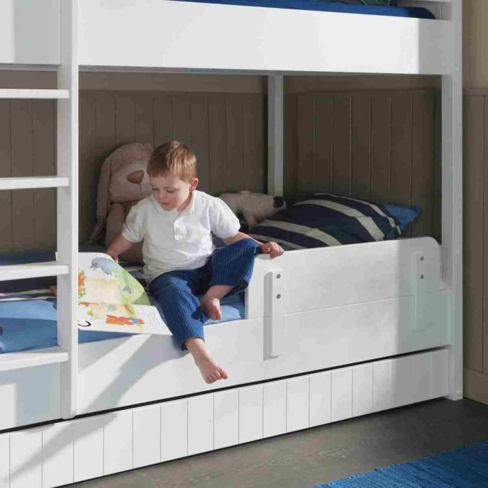 robin barri re s curit de lit laqu e blanc achat vente lit complet robin safety rail. Black Bedroom Furniture Sets. Home Design Ideas