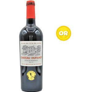 VIN ROUGE Château Dufilhot 2017 Côtes de Bordeaux -  Vin rou