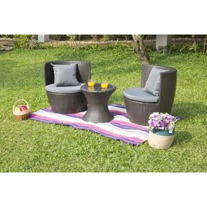 salon de jardin m tal achat vente salon de jardin m tal pas cher cdiscount. Black Bedroom Furniture Sets. Home Design Ideas