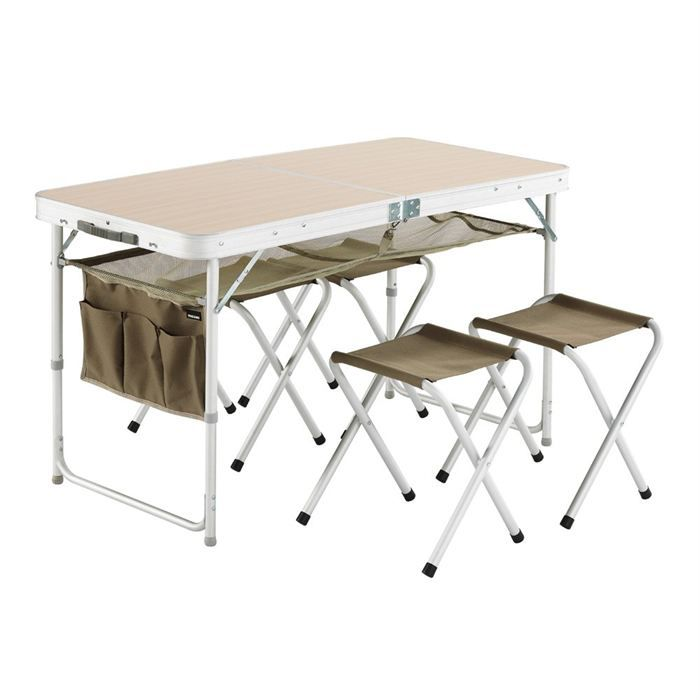 Trigano table valise 4 tabourets prix pas cher cdiscount - Table pliante camping pas cher ...