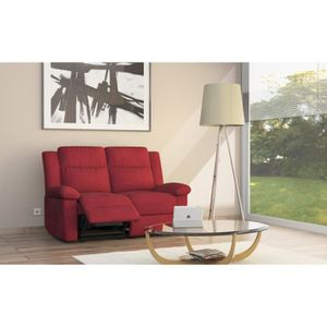 Canape 2 places relax rouge achat vente canape 2 - Cdiscount canape relax ...