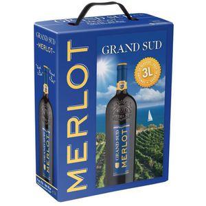 VIN ROUGE Grand Sud IGP Pays d'Oc Merlot  - Vin rouge du Lan