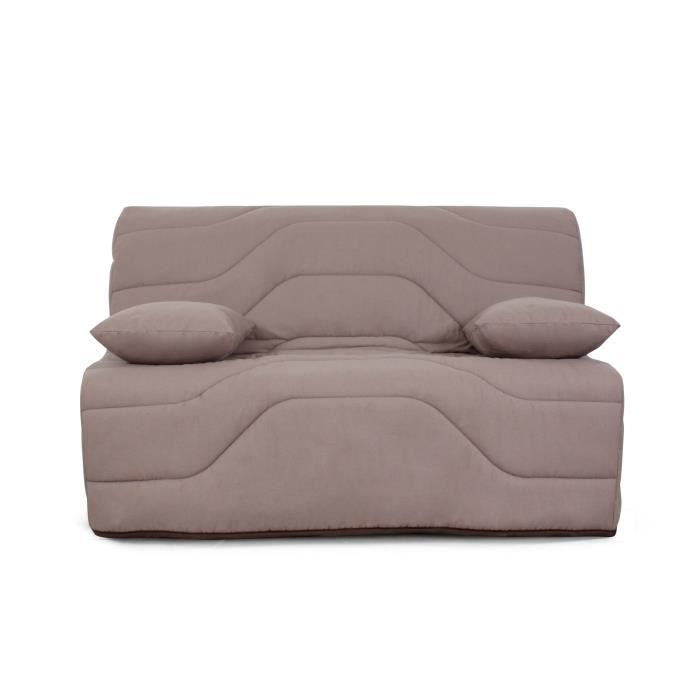 moly banquette bz 3 places matelas dunlopillo tissu taupe 138x100x88 cm achat vente. Black Bedroom Furniture Sets. Home Design Ideas