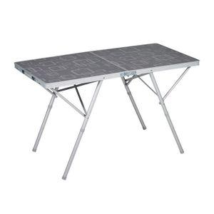 TABLE DE CAMPING TRIGANO Table valise Premium - Gris