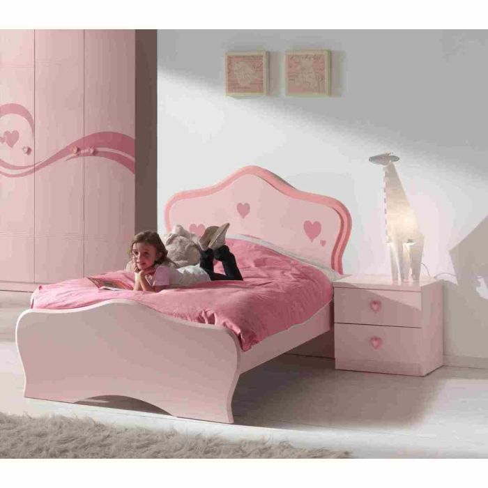 lit fille 90 x 200. Black Bedroom Furniture Sets. Home Design Ideas