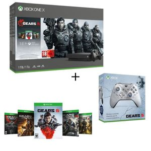 CONSOLE XBOX Xbox One X 1 To + 5 Jeux Gears of War + 1 mois d'e