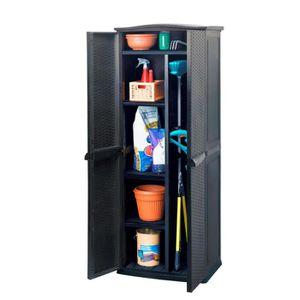 COFFRE D'EXTÉRIEUR Armoire haute résine anthracite 430 L