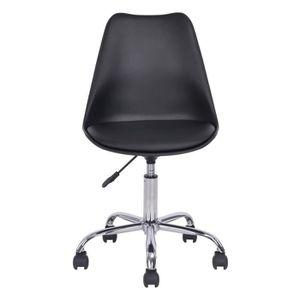 CHAISE DE BUREAU BLOKHUS Chaise de bureau - Simili noir - Style con
