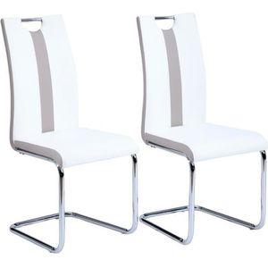 CHAISE JADE Lot de 2 chaises de salle à manger - Simili b