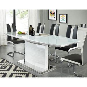 TABLE À MANGER SEULE ICE Table à manger extensible - 8-10 personnes - S