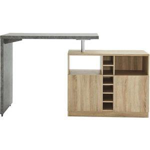 MANGE-DEBOUT POLY Table bar style contemporain décor béton et d