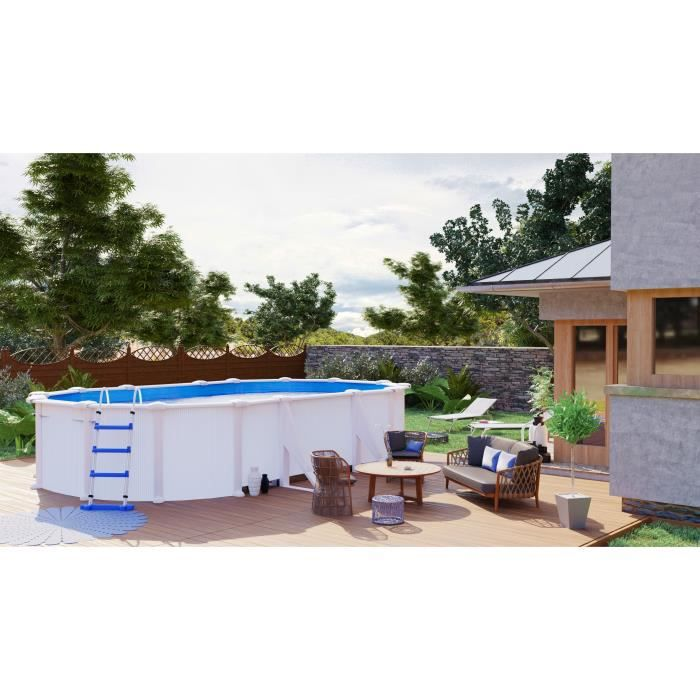 Piscine ovale x x s rie eco achat vente kit - Piscine ovale gonflable ...